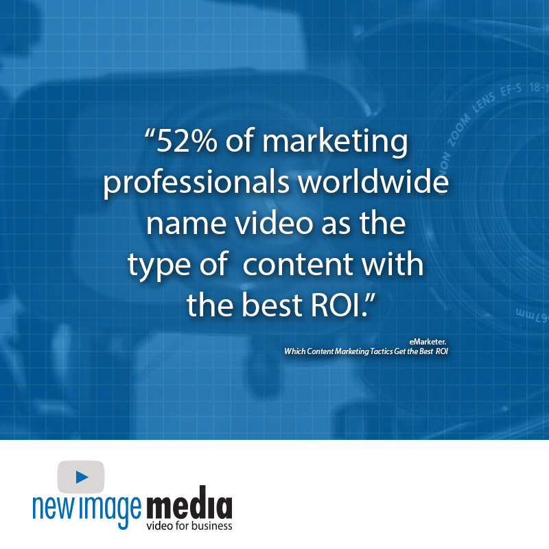 statistics, video statistics, 52% of marketing professionals worldwide name video as the type of content with the best ROI