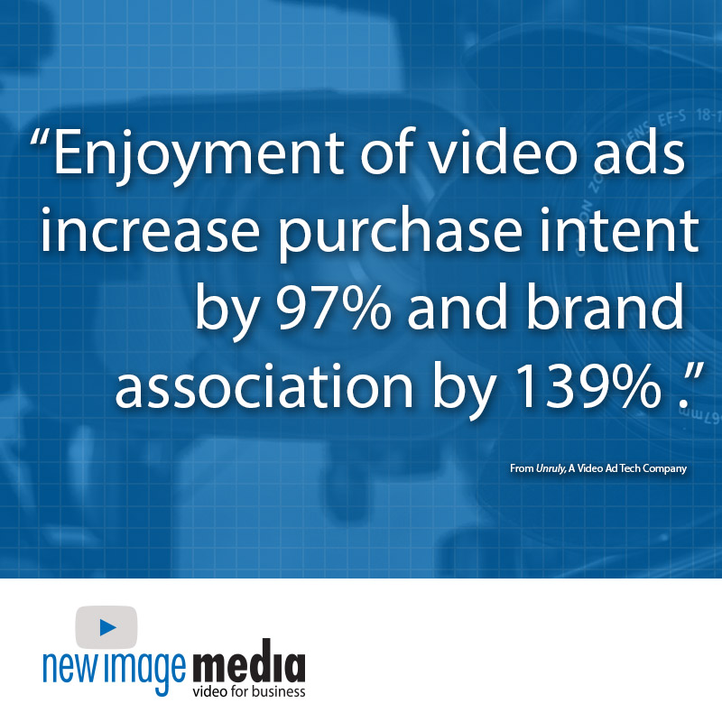statistics, video statistics, Enjoyment of video ads increase purchase intent by 97% and brand association by 139%.