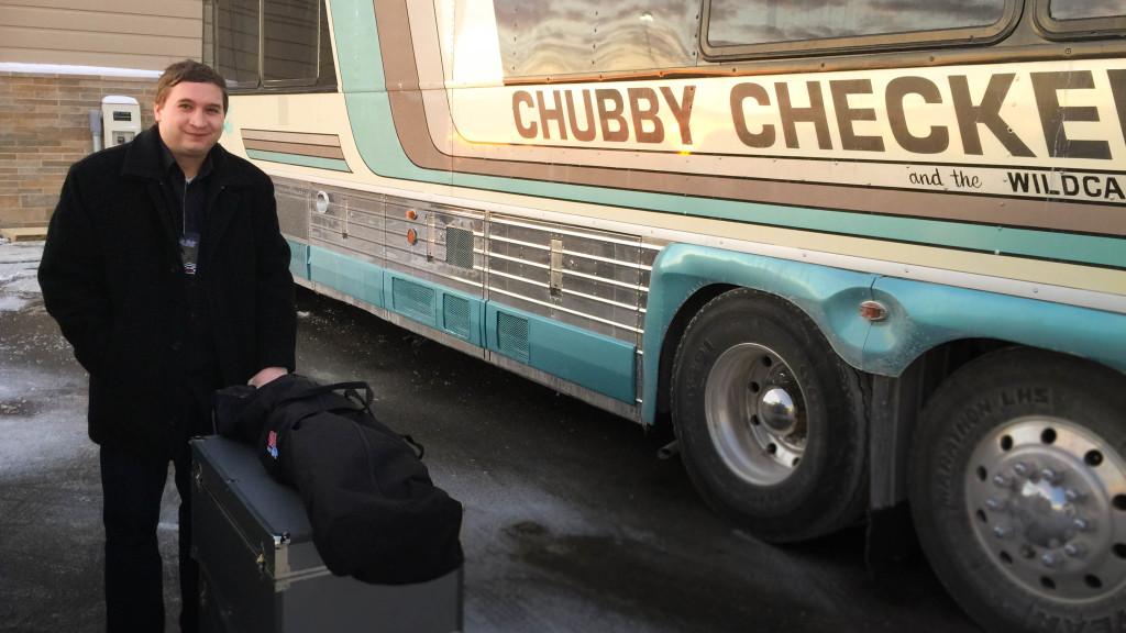 matt barker, chubby checker, chubby checker tour bus