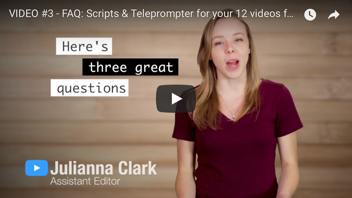 Teleprompter & Scripts